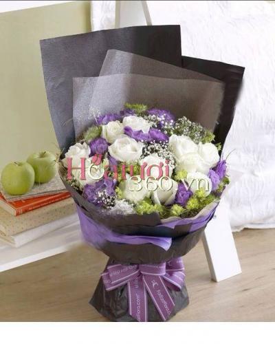 Bó hoa sinh nhật độc đáo tặng sinh nhật sếp nam