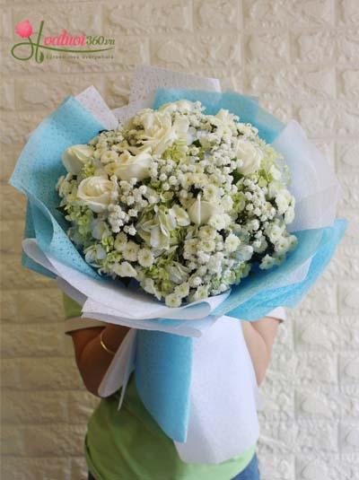 Bó hoa cẩm tú cầu - Trao yêu thương