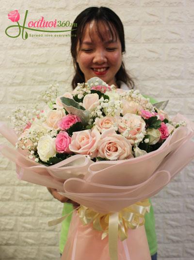Bó hoa đẹp- nụ cười thiên thần
