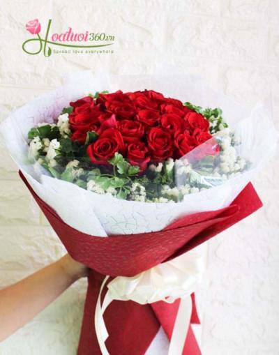 Bó hoa hồng đỏ- Hạnh phúc ngọt ngào