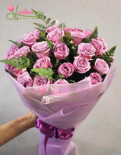 Bó hoa hồng tím- Tình thủy chung