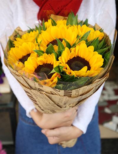 Bó hoa hướng dương xinh - Tri ân thầy cô