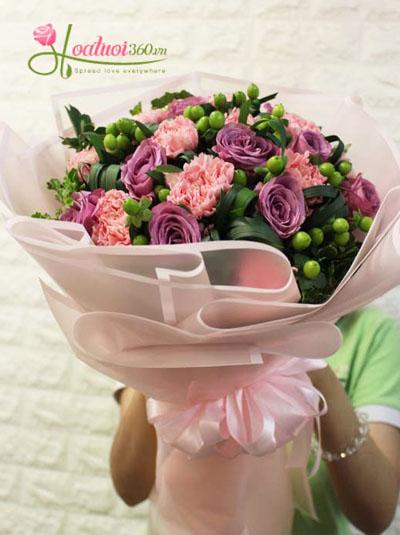 Bó hoa sinh nhật dịu ngọt