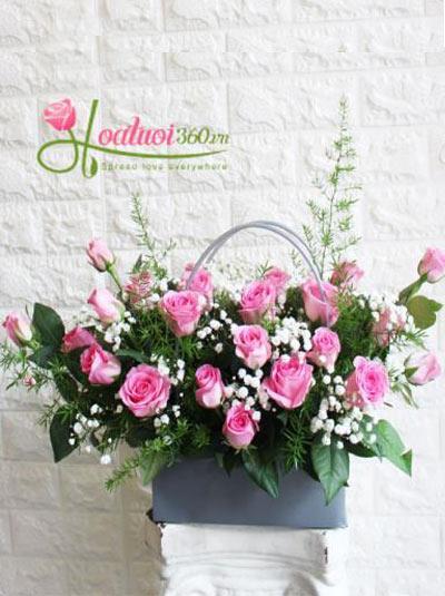 Lẵng hoa đẹp- Giỏ hoa xinh