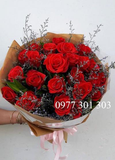 Hoa hồng 22 bông chúc phúc em mong may