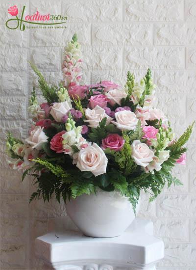 Bình hoa chúc mừng - Hương sắc mới