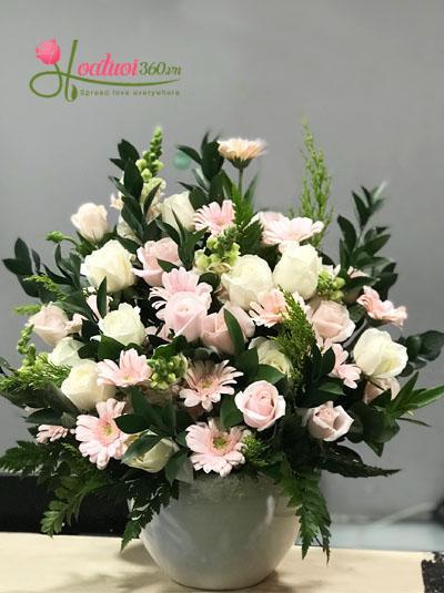 Bình hoa chúc mừng - Xinh xắn