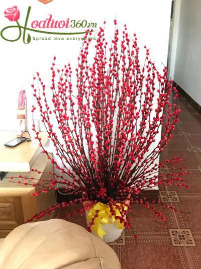Bình hoa nụ tâm xuân -Phúc Duyên Tràn Đầy