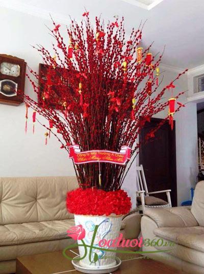 Bình hoa nụ tầm xuân - Sung Túc