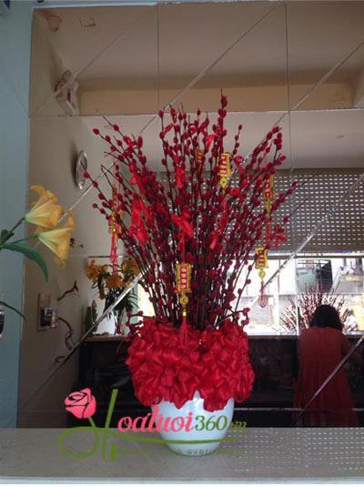 Bình hoa nụ tầm xuân - Thịnh Vượng