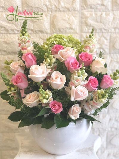 Bình hoa tặng dễ thương