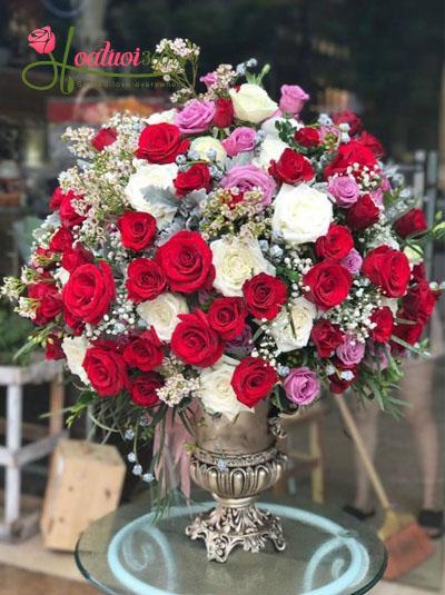 Bình hoa tươi cao cấp