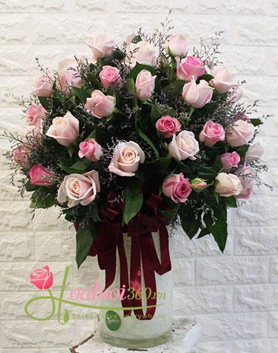Bình hoa chúc mừng- Tươi đẹp