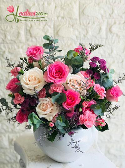 Bình hoa xinh xắn đáng yêu
