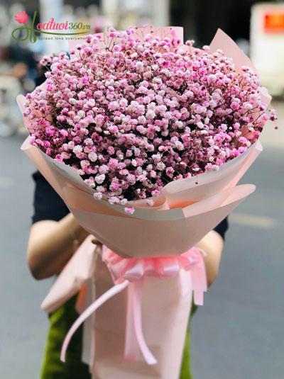 Bó baby hồng đáng yêu