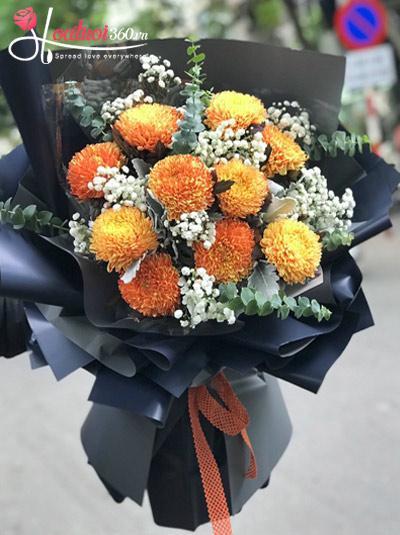 Bó hoa cúc mẫu đơn - Tâm tư