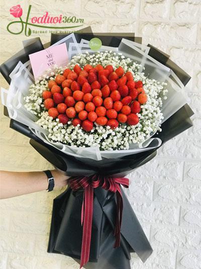 Bó hoa baby dâu - Tình ngọt ngào