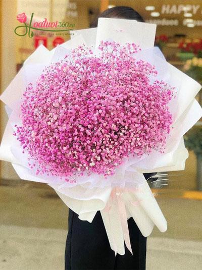 Bó hoa baby hồng cực xinh