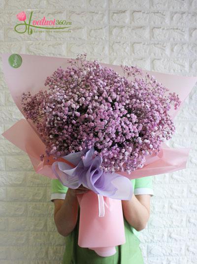 Bó hoa baby hồng đáng yêu và ngây thơ