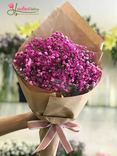 Bó hoa baby hồng dễ thương