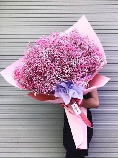 Bó hoa baby hồng đẹp nhất 1
