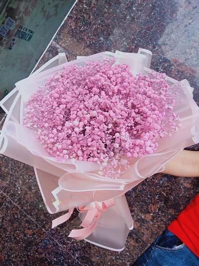 Bó hoa baby hồng đẹp nhất - Hoa Tươi 360