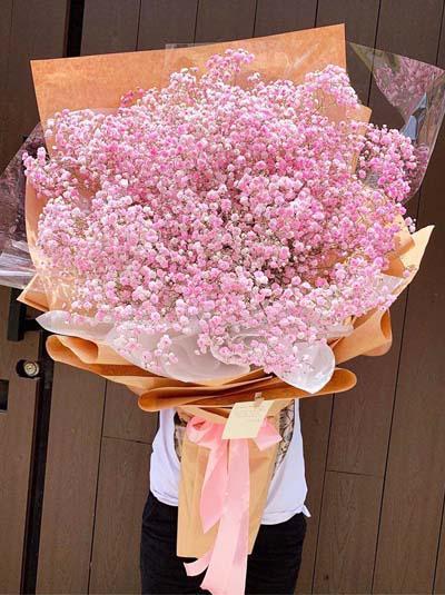 Bó hoa baby hồng  - Korean style