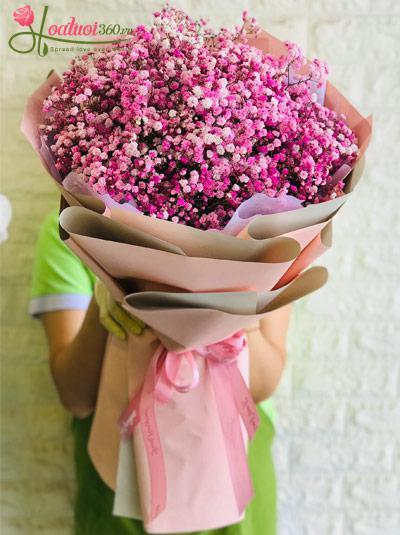 Bó hoa baby hồng - Love you 3000
