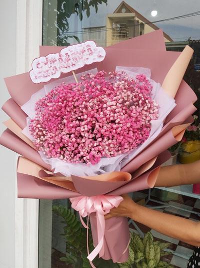 Bó hoa baby hồng - Nét thơ ngây