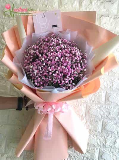 Bó hoa baby hồng - Nét yêu kiều