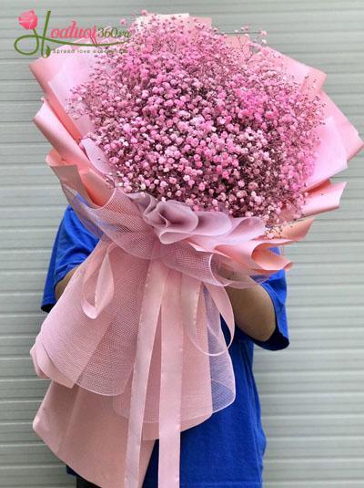Bó hoa baby hồng - Ngọt ngào