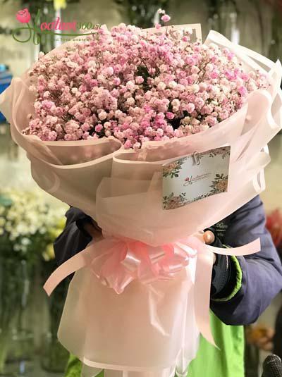 Bó hoa baby hồng - Nụ cười xinh