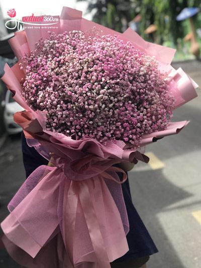 Bó hoa baby hồng - So sweet