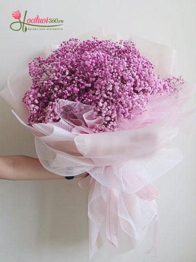 bó hoa baby hồng- Tình hồng thơ ngây