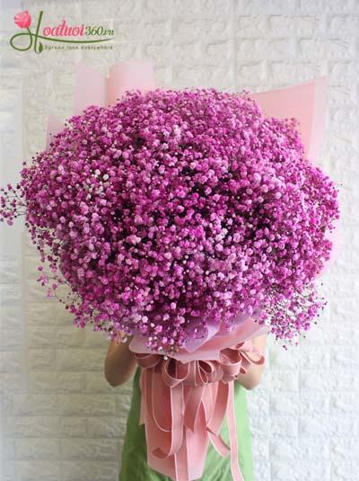 Bó hoa baby hồng tuyệt đẹp