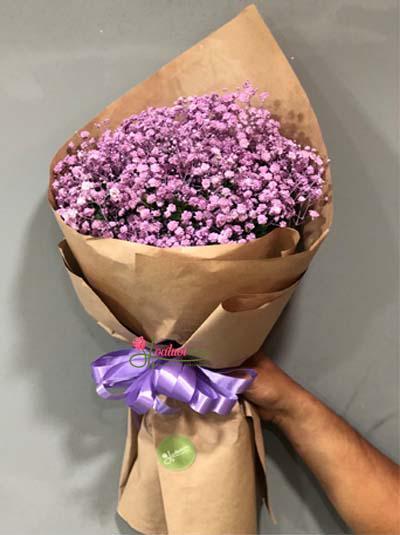 Bó hoa baby tím dễ thương