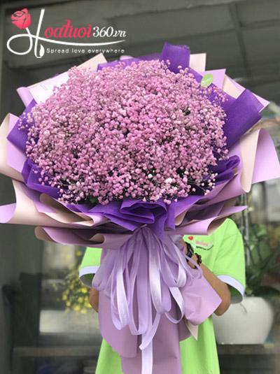 Bó hoa baby tím - Dịu dàng