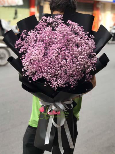 Bó hoa baby tím Hà Lan tuyệt đẹp