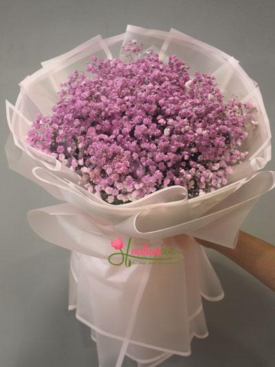 Bó hoa baby tím - Tình thủy chung