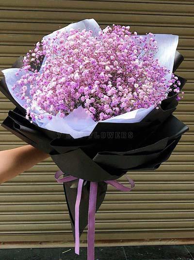 Bó hoa baby tím - Tình trong tim