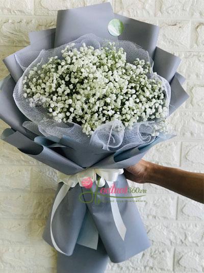 Bó hoa baby trắng - Nét thơ ngây