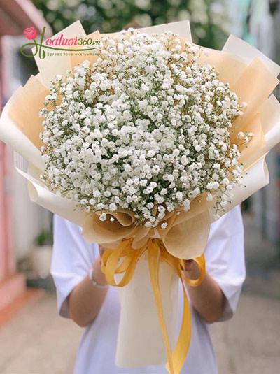 Bó hoa baby trắng - Sương mai