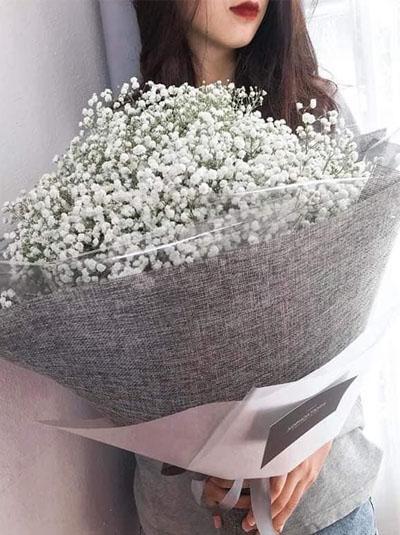Bó hoa baby trắng - Tặng cô gái của anh