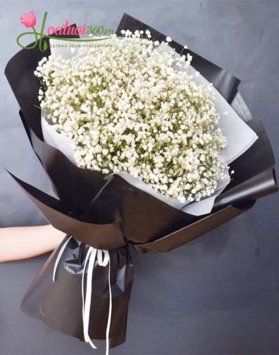 Bó hoa baby - trắng tươi