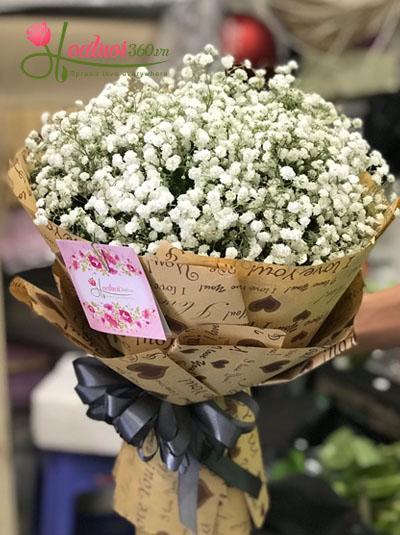 Bó hoa baby - trắng tuyết