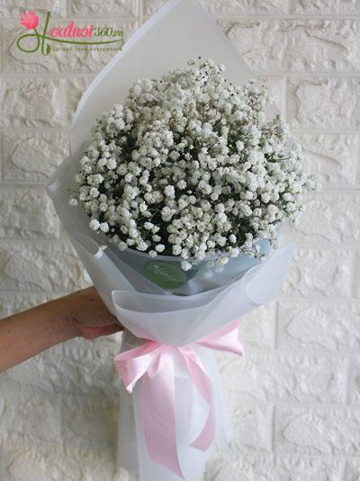 Bó hoa baby trắng xinh xắn