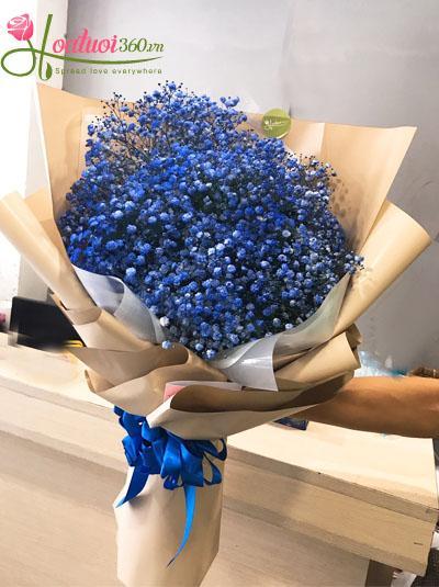 Bó hoa baby xanh blue
