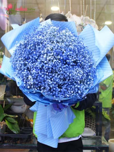 Bó hoa baby xanh dương - Bình yên
