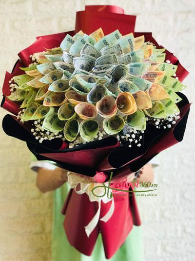 Bó hoa bằng tiền đô la
