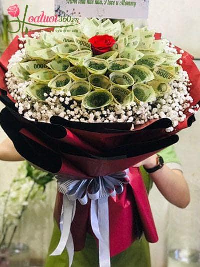 Bó hoa bằng tiền - Hy vọng xanh